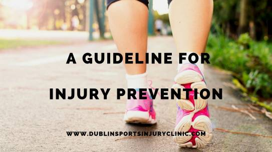 A Guideline for Injury Prevention